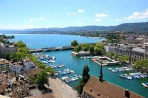 aerial above view Zurich