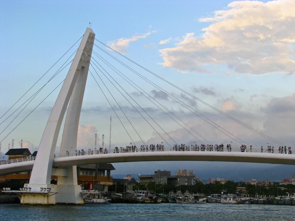 danshui taipei Taiwan bridge