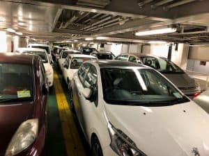 malta gozo ferry cars lower deck