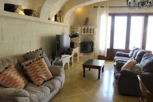living room farmhouse Gozo Malta
