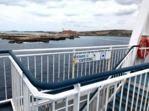 Open-air upper deck of ferry Malta Gozo is a great photography spot.