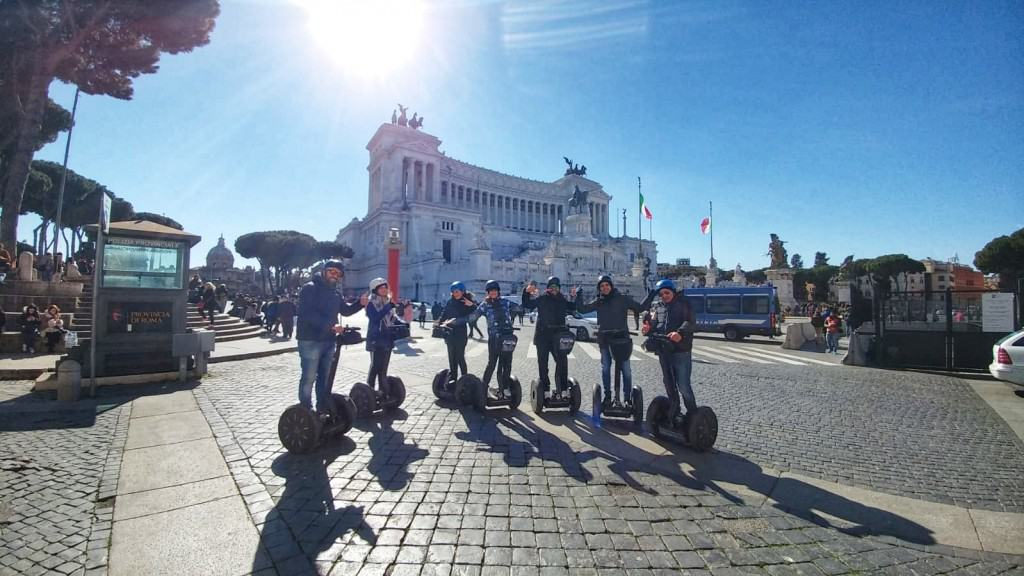 Piazza Venezia during segway tour in Rome