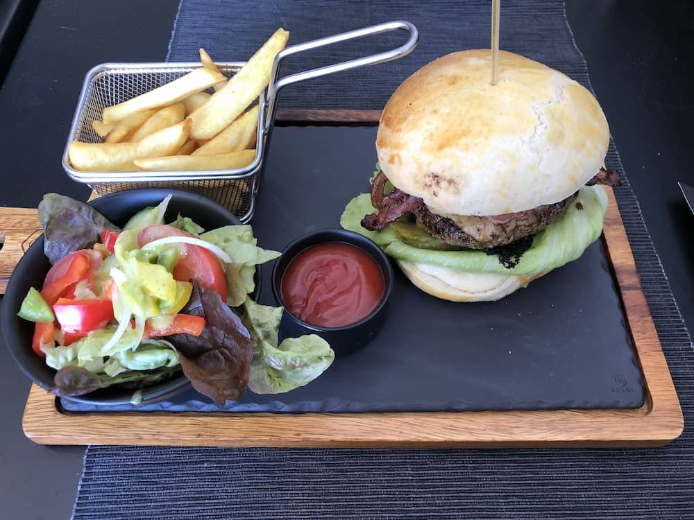 Burger made of authentic Polish sirloin beef.