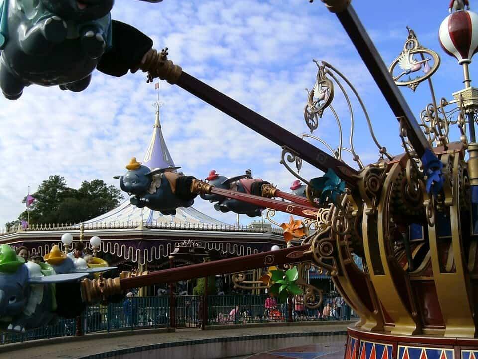 Dumbo ride at Disney