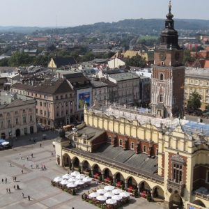 View from mariacki church krakow from above