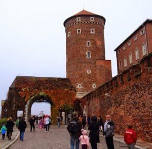 wawel castle fall autumn people colors