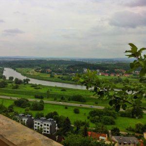 view from przegorzaly castle in krakow u zyiada