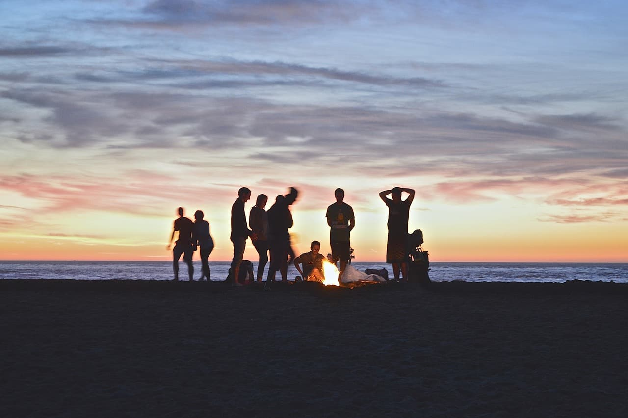 camping during a family trip to Australia