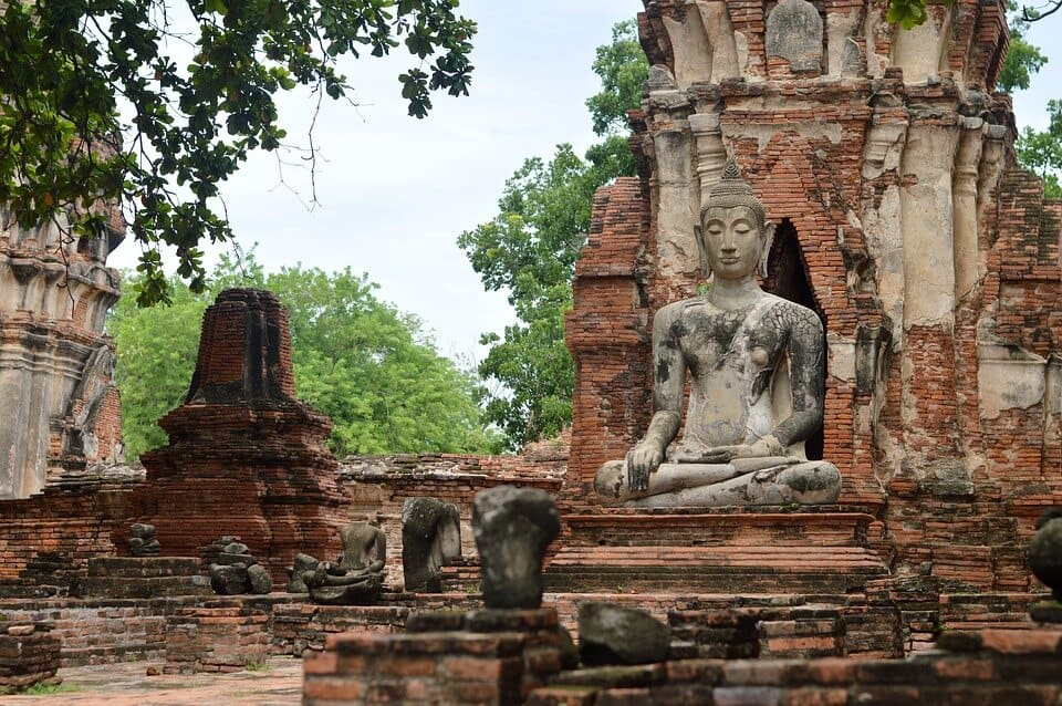 Ruins of Ayutthaya in Thailand