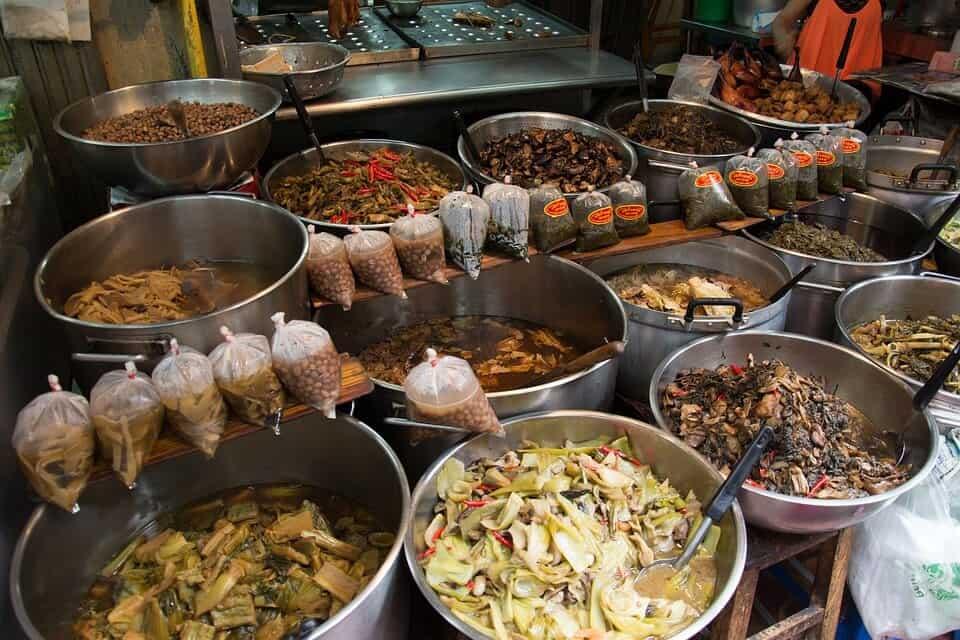 A Thai Food market