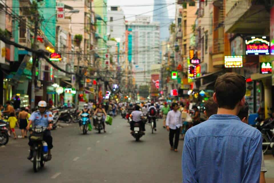 Walking in Bangkok
